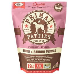 Primal Primal 6 lb. Turkey & Sardine Formula