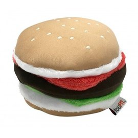 FouFou Dog Freeze 'n' Float Plush Junk Food Toys - Burger