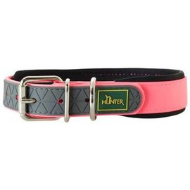 Hunter Collar Convenience Comfort, neon pink 35 cm 20mm