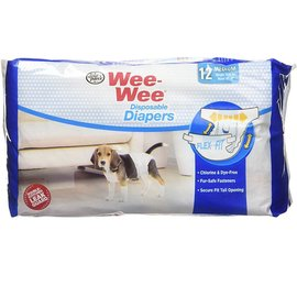 Four Paws Wee-Wee Diapers Medium 12 Pack