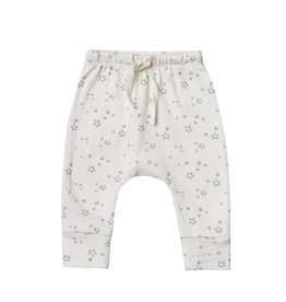Quincy Mae Quincy Mae | Drawstring Pant in Ivory Stars