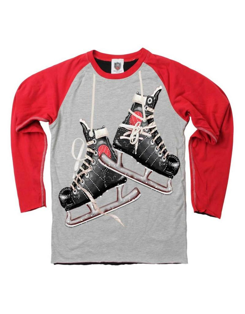 Wes & Willy| Hockey Skates Reversible Tee