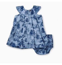 Tea Collection Tea Collection| Forest Toile Holiday Baby Dress