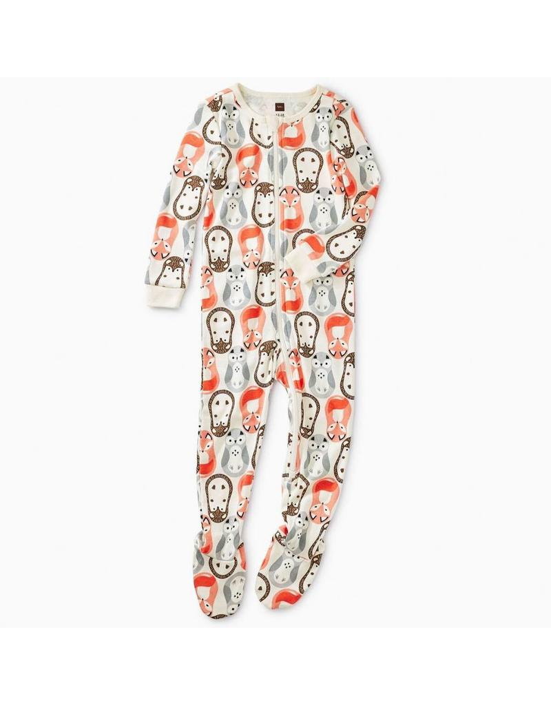Tea Collection Tea Collection| Woodland Nesting Dolls Footed Pajamas