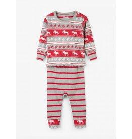 Hatley Hatley | Fair Isle Moose Baby Pajama Set