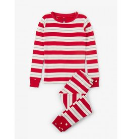 Hatley Hatley |Metallic Stripe Holiday Pajama Set