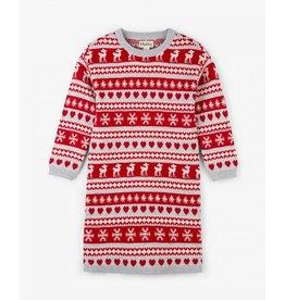 Hatley Hatley |Fair Isle Deer Sweater Dress