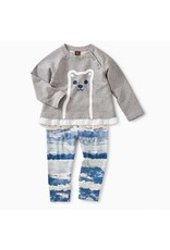 Tea Collection Tea Collection|Furry Friend Baby Outfit