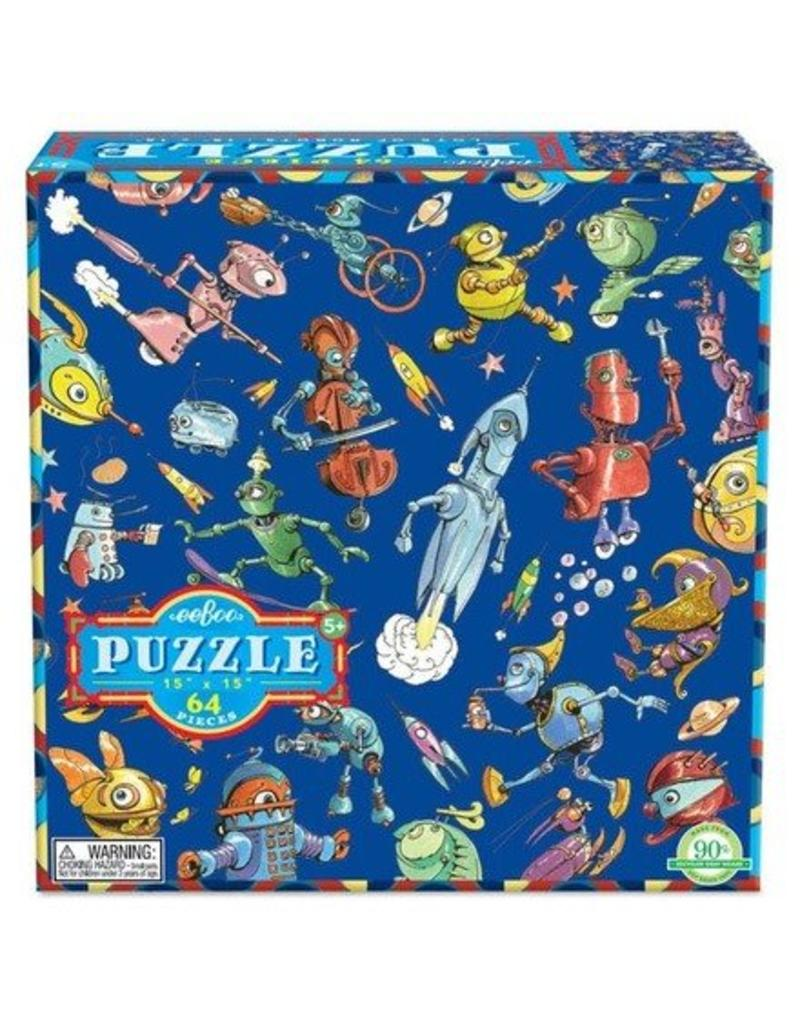 eeBoo eeboo | Lots of Robots 64 Piece Puzzle
