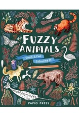 Quarto Fuzzy Animals | Touch & Feel Coloring Book