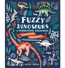 Quarto Fuzzy Dinosaurs | Touch & Feel Coloring Book
