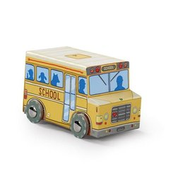 Crocodile Creek | 24 pc Mini Vehicle Puzzle, School Bus