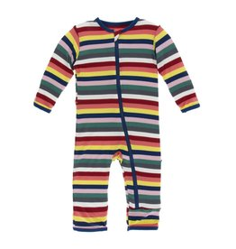 Kickee Pants Kickee Pants | Bright London Stripe Coverall