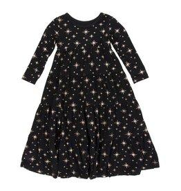 Kickee Pants Kickee Pants| Rose Gold Stars Tiered Dress