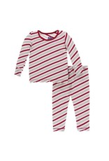Kickee Pants Kickee Pants  Rose Gold Candy Cane Stripe Pajama Set