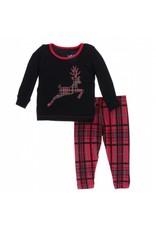 Kickee Pants Kickee Pants| Christmas Plaid Pajama Set