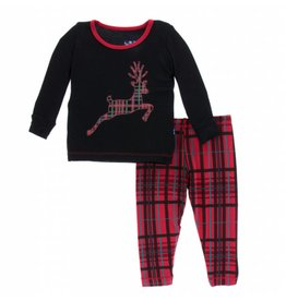Kickee Pants Kickee Pants| Christmas Plaid Pajama Set