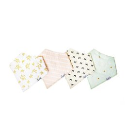 Copper Pearl Copper Pearl | 4-Pack Bandana Bib Set Paris