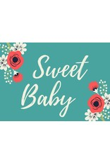 Sweet Baby Card Teal