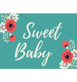 Sweet Baby Greeting Card Teal