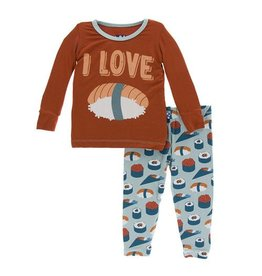Kickee Pants Kickee Pants | Jade Sushi Pajama Set