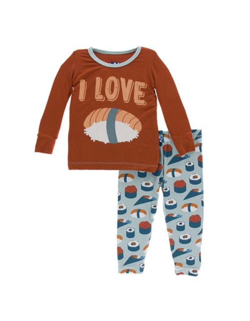 Kickee Pants Kickee Pants| Jade Sushi Pajama Set