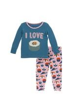Kickee Pants Kickee Pants| Lotus Sushi Pajama Set