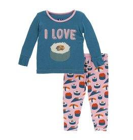 Kickee Pants Kickee Pants | Lotus Sushi Pajama Set