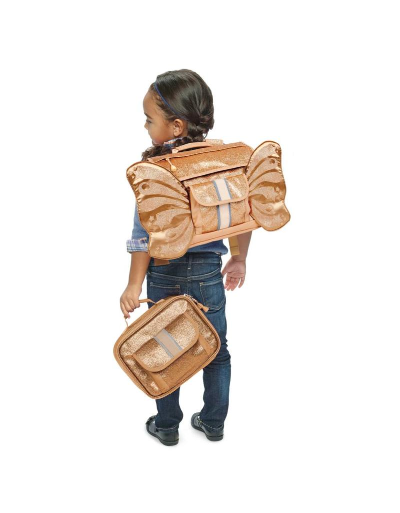 BIXBEE | Sparkalicious Gold Butterflyer Backpack Small