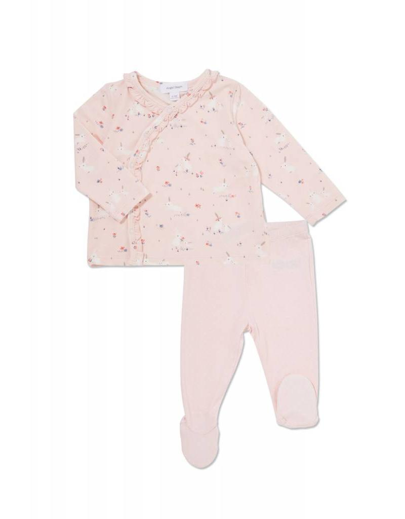 Angel Dear Angel Dear | Pink Bunnies Kimono Top Set