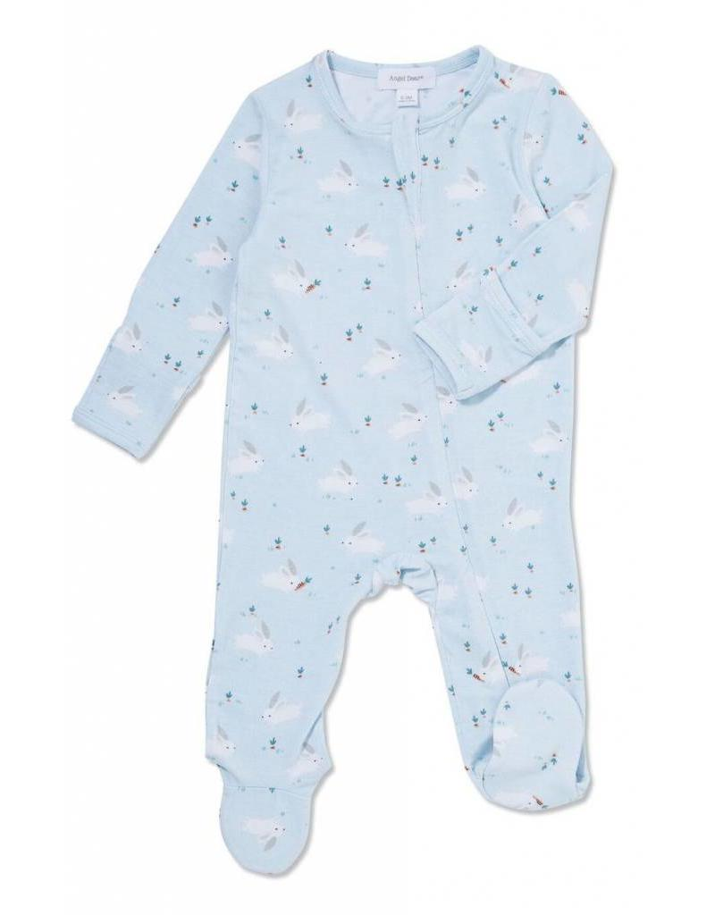 Angel Dear Angel Dear | Blue Bunnies Zipper Footie