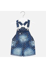 Mayoral Mayoral | Floral Dot Denim Overalls