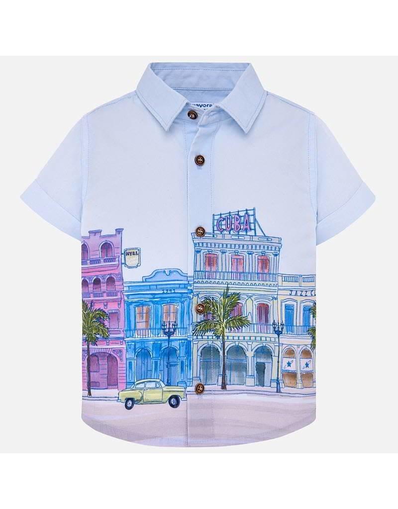 Mayoral Mayoral |Cityscape Baby Shirt