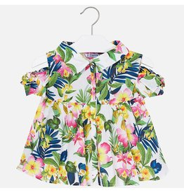Mayoral Mayoral |Tropical Tie Shoulder Blouse
