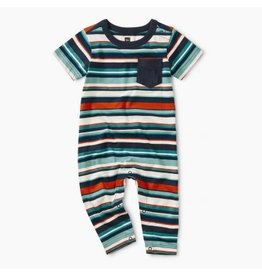 Tea Collection Tea Collection| Striped Pocket Romper