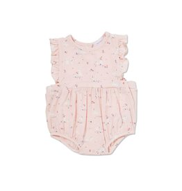 Angel Dear Angel Dear | Pink Bunnies Sunsuit
