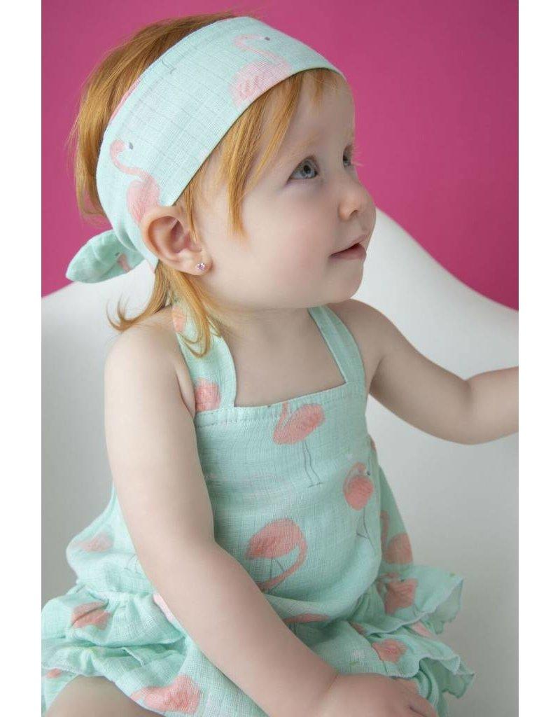 7e191db2d Angel Dear   Flamingo Muslin Ruffle Sunsuit - Nurture Baby
