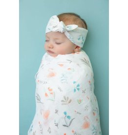 Angel Dear Angel Dear | Swan Floral Muslin Swaddle