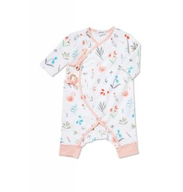 Angel Dear Angel Dear | Swan Floral Muslin Coverall