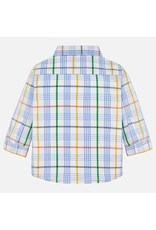Mayoral Mayoral |Pastel Plaid Baby Shirt