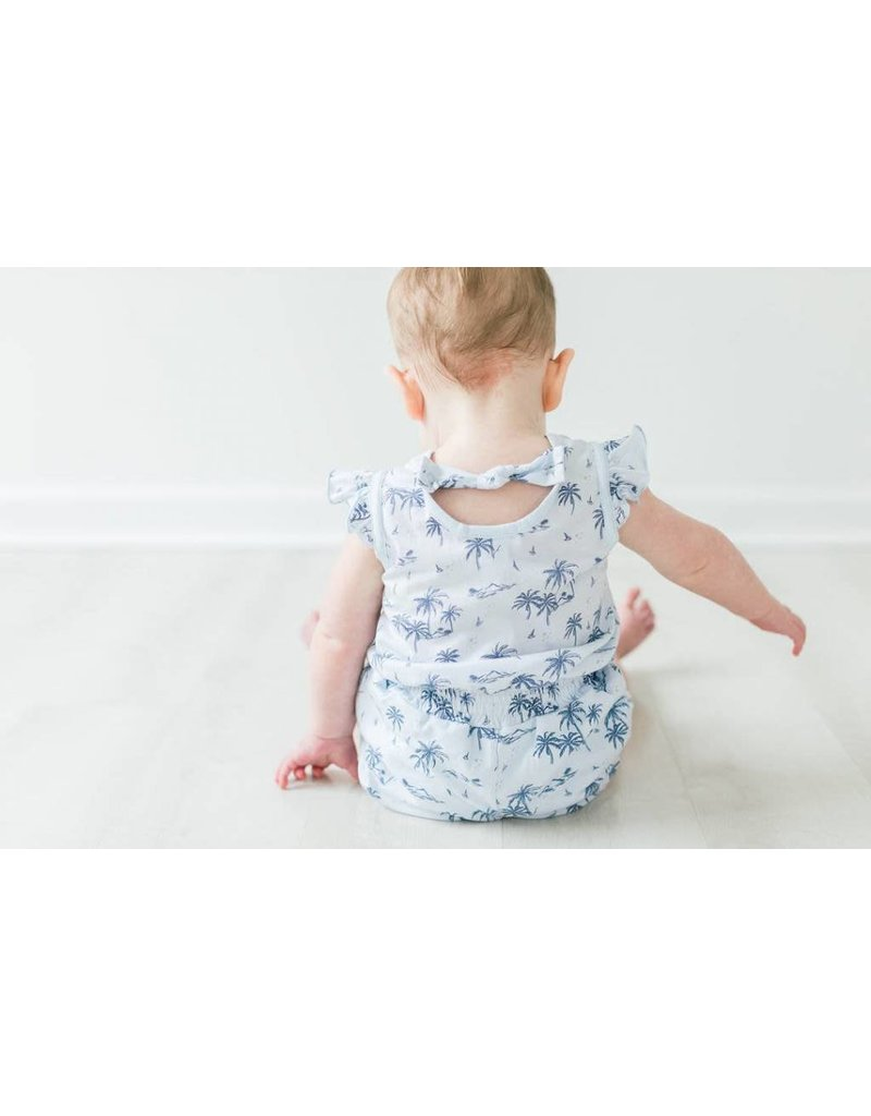 Feather Baby |Vintage Hawaii Baby Tie Romper