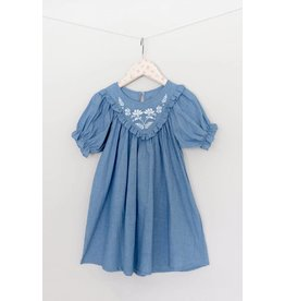 Mae Li Rose | Embroidered Chambray Dress