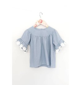 Mae Li Rose | Flower Sleeve Top