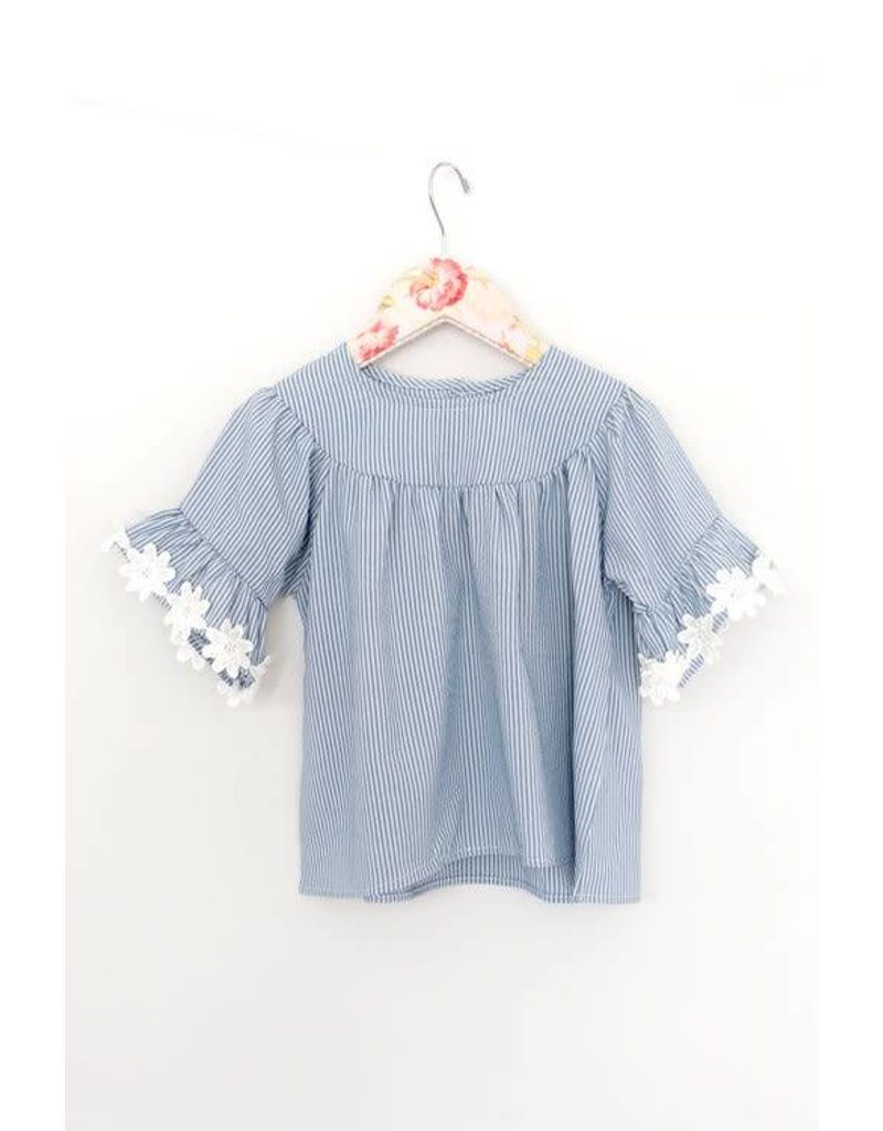 Mae Li Rose | Flower Sleeve Top