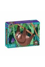 48 pc Mini Puzzle | Three-Toed Sloth