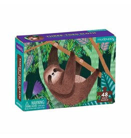 48 pc Mini Puzzle | Three-Toed Sloth