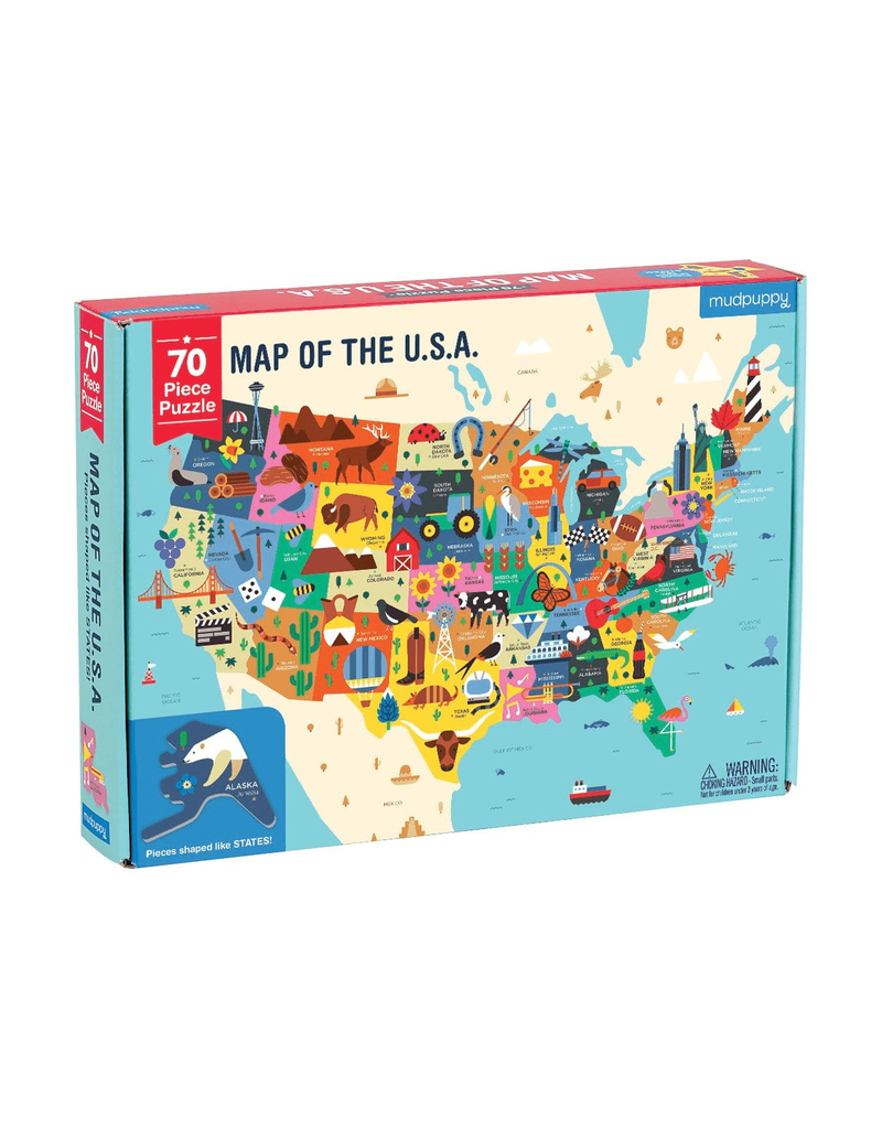 Mudpuppy | 70 pc USA Map Puzzle