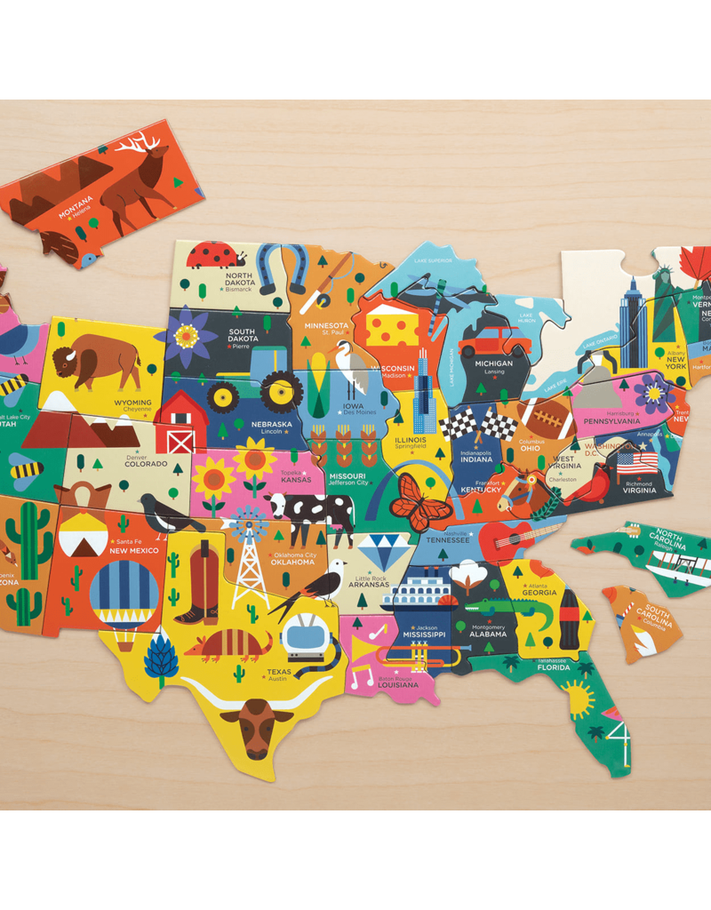 Mudpuppy | 70 pc USA Map Puzzle
