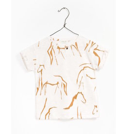 Play Up Play Up | Organic Sketched Horses Tee