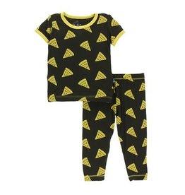 Kickee Pants Kickee Pants| Zebra Pizza Pajama Set